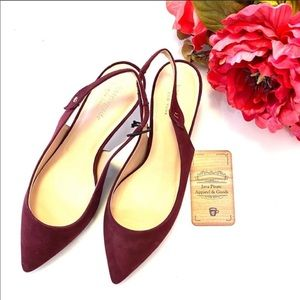 Kate Spade Burgundy Suede Shiloh Slingback Shoes